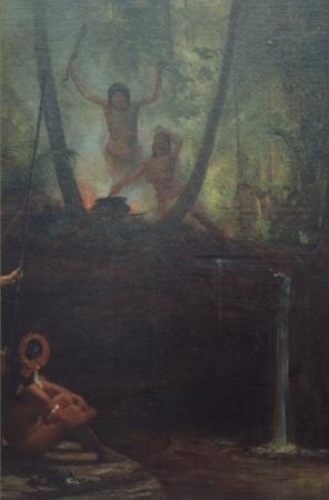 Índios da Amazônia Adorando o Deus Sol